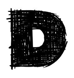 D - hand drawn character sketch font vector