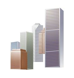 Icon skyscraper vector