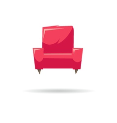 Armchair isolated on a white backgrounds vector