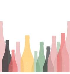 Bottle retro poster seamless vector
