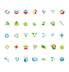 Different abstract trendy symbols vector