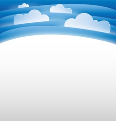 Sky and clouds background template vector
