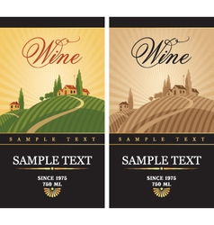 Wine labels vector
