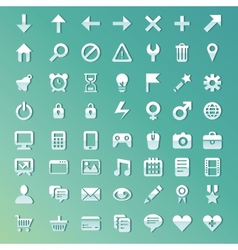 Set with internet and technology icons vector