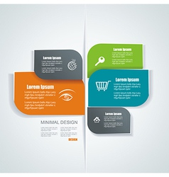 Template for interface or infographic ready to vector