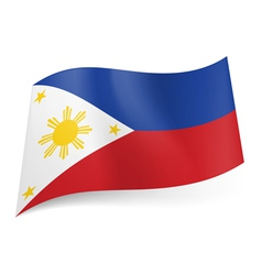 State flag of philippines vector