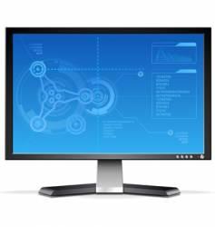 Lcd monitor vector