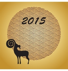 Chinese year of the goat 2015 vector