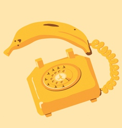 Banana phone vector