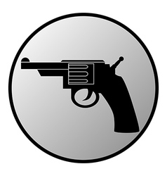 Gun button vector