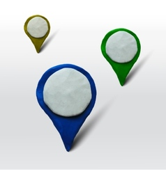 Set of markers for maps or places vector