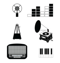 Music players and components vol 3 black and white vector