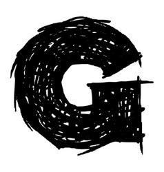 G - hand drawn character sketch font vector