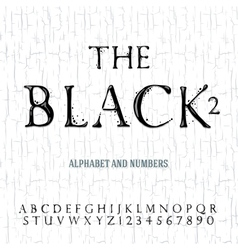 Black oil painted alphabet vector