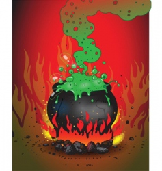Boiling cauldron vector