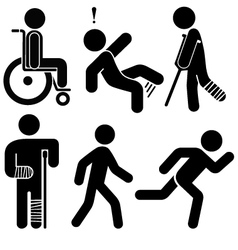 Injured stick figures vector