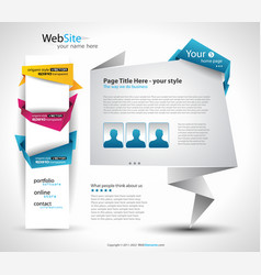 Origami website vector