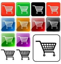 Shopping basket sign vector