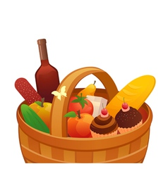 Picnic basket vector