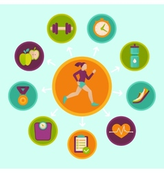 Fitness infographics design elements vector