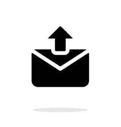 Sending mail icon on white background vector