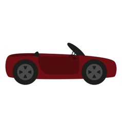 Cartoon car isolated on white background vector
