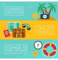Concepts and banners of travel summer vector