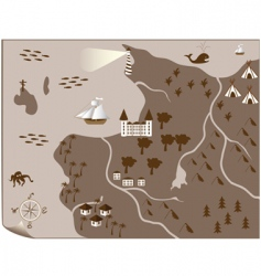 Ancient map vector