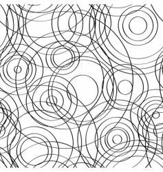 Seamless circles background black vector