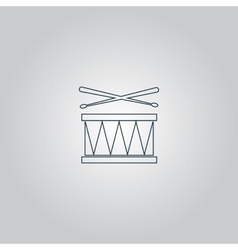 Drum icon isolated vector