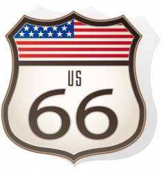 Route66 sign vector