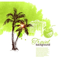 Travel tropical design vector