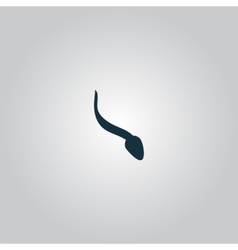 Sperm sign icon fertilization or insemination vector