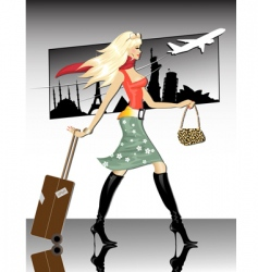 Travel girl vector