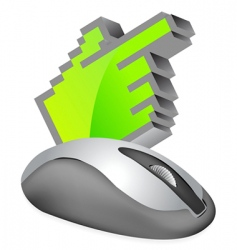 Computer mouse with cursor vector
