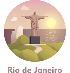 Travel destination rio de janeiro icon vector