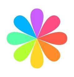 Abstract geometric rainbow flower logo vector