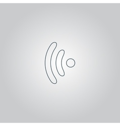Wireless icon  flat design vector