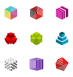 Logo design elements set 20 vector