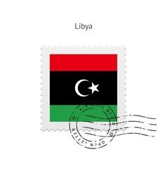 Libya flag postage stamp vector