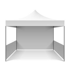 White folding tent vector