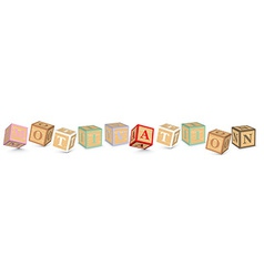 Word motivation written with alphabet blocks vector