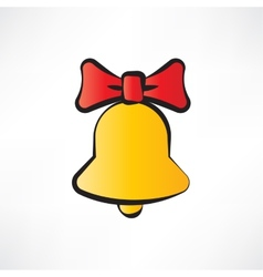 One yellow bell vector