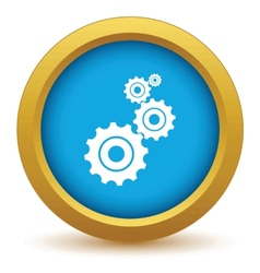 Gold mechanism icon vector