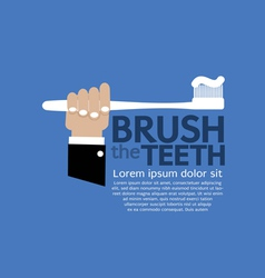 Teeth brushing vector