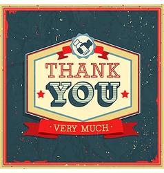 Card thank you2 vector