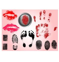Single black fingerprint - simple monochrome image vector