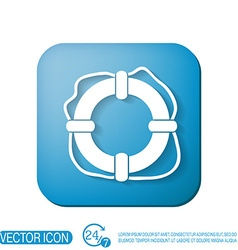 Lifebuoy icon vector