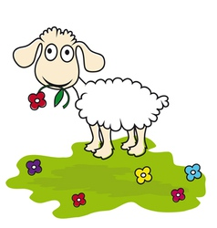 Cartoon lamb vector