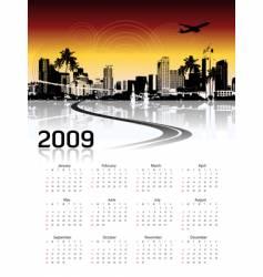 Cityscape background calendar vector